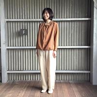 【 artea-2020spring03  】コットン/テンセル ワイドライプバルーンシャツ