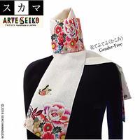 No.54 SCA★SCAMAスカマ【花てふてふ(かこみ)】オリジナルプリント &ハンドメイド少数販売品