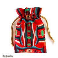🎀 arteseiko オリジナル ミニ巾着 M2【 赤い顔】
