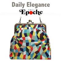 No.28 EP★2WAY Epocheエポシェ【Ciao, Vivia!】本体内ポケット+Pポーチ付オリジナルプリント&ハンドメイド 少数販売品