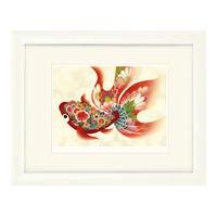 No.106★【金魚の夢】古色赤金魚 額装ジークレー版画(デジタルリトグラフ)