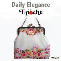 No.54 EP★2WAY Epocheエポシェ本【花かこみ】体内ポケット+Pポーチ付オリジナルプリント&ハンドメイド少数販売品