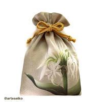 🎀 arteseiko オリジナル ミニ巾着 M15【白砂に】