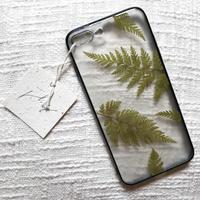 フローラル i phone7/8Plus case  (ブラック)①