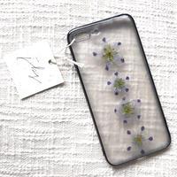 フローラル i phone7/8Plus case  (ブラック)③