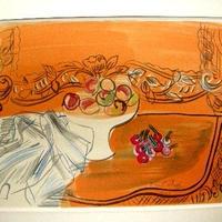 *売り切り! Raoul  Dufyのリトグラフ 静物「Dessin」