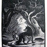 「赤頭巾ちゃん」リトグラフ 1928年制作 ペローの童話集   送料無料