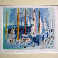 SALE Raoul  Dufy ラウル・デュフィのリトグ ラフ  水彩画のような美しさ