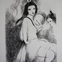SALE マリー・ローランサンの銅版画