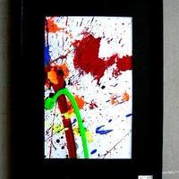 #11 人気現代アート作家・今井アレクサンドルの抽象、油彩       新品、額入り
