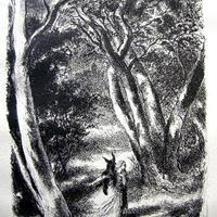 「ロバの皮」 リトグラフ 作家 ベルトールド・マン