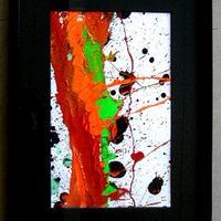 #21 人気現代アート作家・今井アレクサンドルの抽象、油彩  新品、額入り