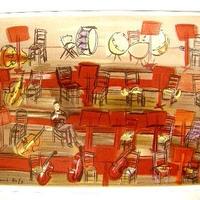 Raoul  Dufy ラウル・デュフィのリトグラフ  コンサート