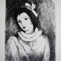 マリーローランサンの銅版画    送料無料