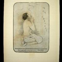 アールデコ期のオフセットによる香水の広告 1919~1920年