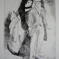 売却済み h-マリー・ローランサン 銅版画