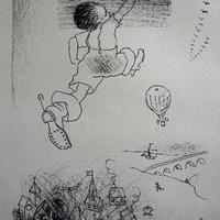 「親指小僧」 リトグラフ  作家 ジョルジュ・アネンコフ