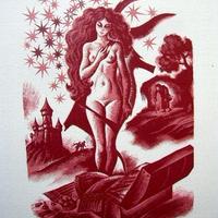 ペローの童話集 「ロバの皮」木版画 作家 ジャック・ボウレール