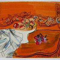 期間限定・特価!Raoul  Dufyのリトグラフ 静物「Dessin」