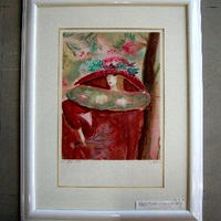 Claire Astaix クレール アズテクス フランス人画家  リトグラフ  直筆サイン、エディション     売却済み