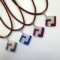 ネックレス ストライプ柄4パターン