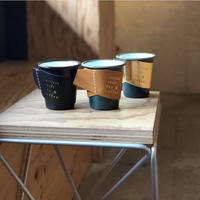 【5th anniversary Limited】  falcon  enamelware cup + craft leather sleeve +Gift box