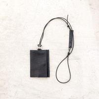 ARUMO カードケース+ネックコード / クロコブラック