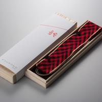東京くみひもカメラストラップ(赤黒)【アルヴォリ×キヤノンMJ】