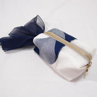 組紐ポーチ(紺)【龍工房】
