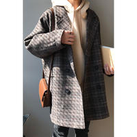 check double jacket coat(予約)