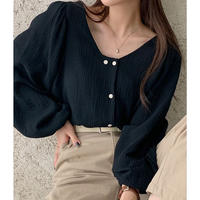 double cotton gauze blouse/3color
