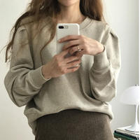 puff shoulder pullover