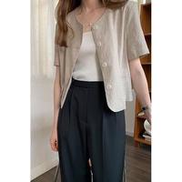 no collar linen jacket/2color[0092]