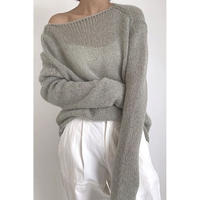 wool loose knit/4color