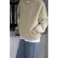 simple loose hoodie/3color