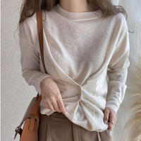 button sheer knit