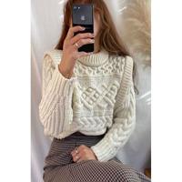 design cable knit/2color