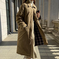 【down 90%】long down coat