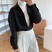 deep neck pullover/2color