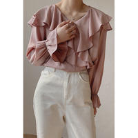 sweet frill blouse/2color