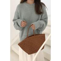 U neck soft knit/3color