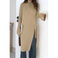 side slit long knit/3color