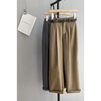cropped tuck slacks/2color(予約)