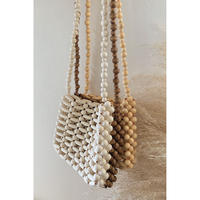 wood beads mini bag/3color