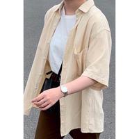 【@coro_3.9様セレクト】half sleeve big shirts(即納のみ)