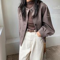 wool tweed short coat/2color