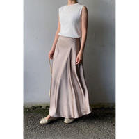 satin flare skirt/2color