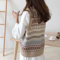retro knit vest