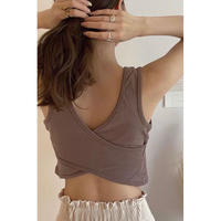 back cross bra top/3color