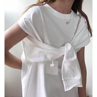 3way sleeve slit Tee/2color